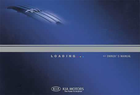 Kia K2700 PU 2006 Owners Manual