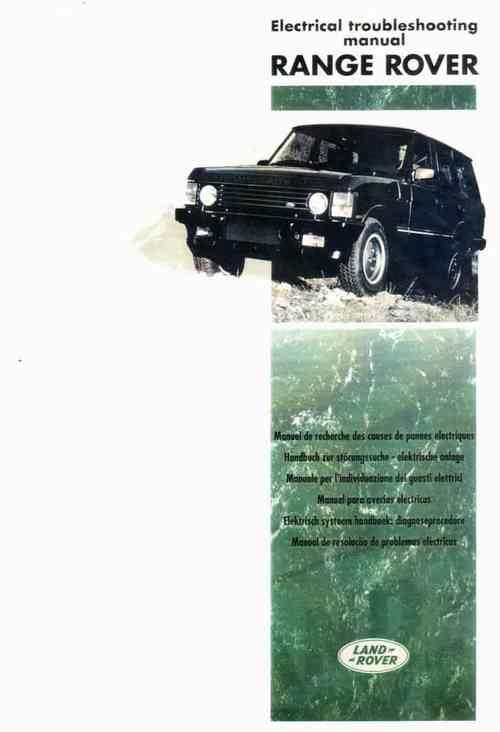 Range Rover 1994 - 1995 Electrical Trouble Shooting Manual ETM - Front Cover