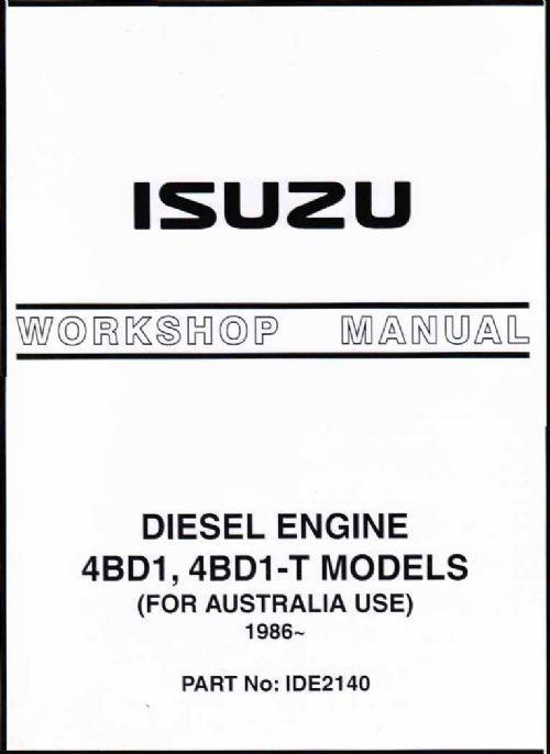 Isuzu 3.9 & 3.9 Turbo Diesel Engine 1986 On Owners Service & Repair Manual - Front Cover