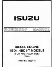 Isuzu 3.9 & 3.9 Turbo Diesel Engine 1986 On Owners Service & Repair Manual