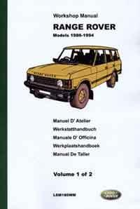 Range Rover 1986 - 1994 Factory Workshop Manual - Front Cover