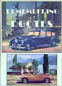 Remembering Rootes Volume 1 - Front Cover