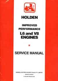 Holden Improved Performance L6 and V8 Engines Service Manual - Front Cover