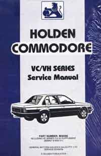 Holden Commodore VC / VH Series 1981 - 1984 Factory Service Manual - Front Cover
