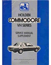 Holden Commodore VH Series Service Manual Supplement
