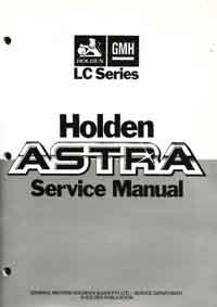 Holden Astra LC Series 1984 - 1987 Factory manual Supplement