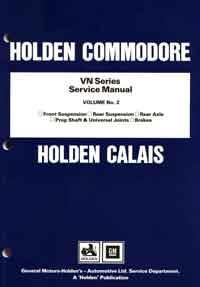 Holden Commodore VN Series Service Manual - Front Cover