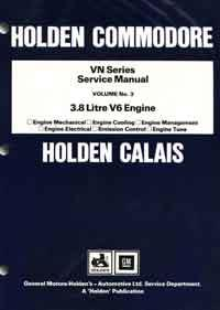 Holden Commodore VN Series 3.8 litre V6 Factory Service Manual: Volume 3 - Front Cover