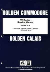 Holden Commodore VN Series Factory Service Manual: Volume 6 - Front Cover