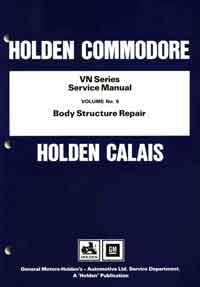 Holden Commodore VN Series Service Manual : Volume 9 - Front Cover