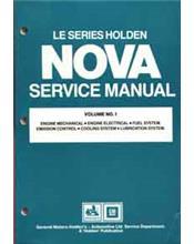 Holden Nova LE Series 1989 - 1991 Factory Service Manual : Volume 1