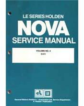 Holden Nova LE Series 1989 - 1991 Factory Service Manual : Volume 4