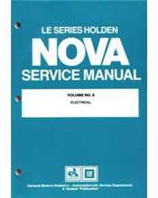 Holden Nova LE Series 1989 - 1991 Factory Service Manual : Volume 6