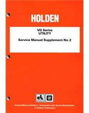 Holden VG Series Utility Service Manual Supplement No. 2