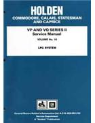 Holden Commodore, Calais, Statesman & Caprice VP & VQ Series 2 Service Manual - Front Cover