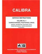 Holden (Opel) Calibra YE Series 1991 Fatcory Repair Manual: Volume 4 - Front Cover