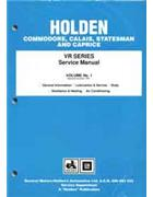 Holden VR Series 1993 - 1995 Factory Service Manual Volume 1 Only -