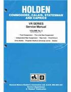 Holden Commodore VR Series 1993 - 1995 Factory Manual -