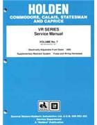 Holden Commodore VR Series 1993 - 1995 Factory Manual - Front Cover