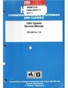 Holden Commodore VR Series 1994 Update Factory Manual: Volume 11A -