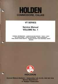 Holden Commodore VT 1997 Volume 1 Factory Manual -