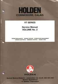 Holden Commodore/Calais VT 1997 Service Manual: Volume 2 -