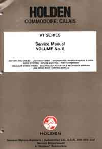 Holden Commodore VT Series Factory Workshop Manual Supplement: Volume 6 -