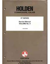 Holden Commodore VT Series LPG System Factory Workshop Manual Supplement