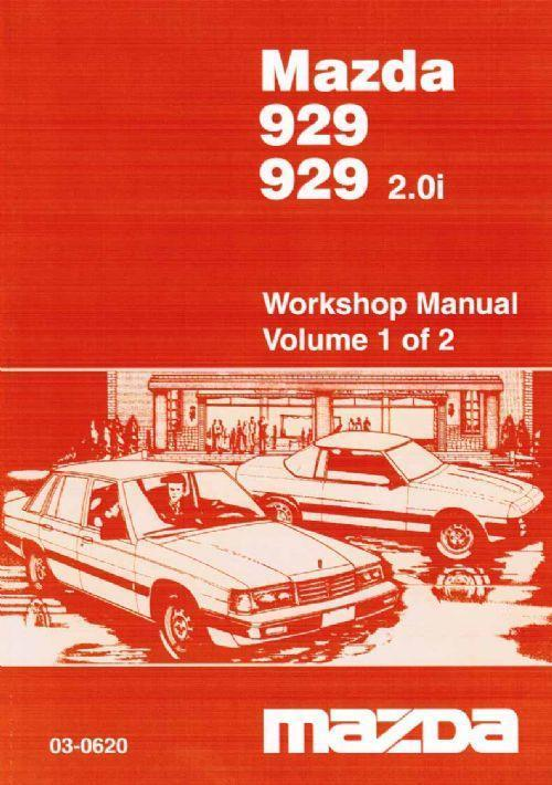 Mazda 929 10/1983-1986 Factory Workshop Manual : 2 Volume Set