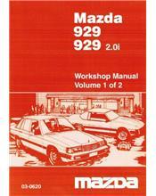 Mazda 929 10/1983-1986 Factory Workshop Manual : 2 Volume Set