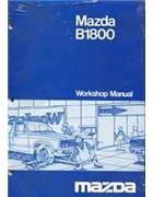 Mazda B1800 06/1977 Factory Workshop Manual - Front Cover