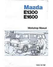 Mazda E Series 06/1978 Factory Workshop Manual