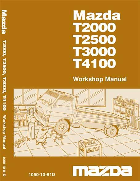 Mazda T Series 04/1981 Factory Workshop Manual - Front Cover