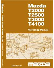 Mazda T Series 04/1981 Factory Workshop Manual