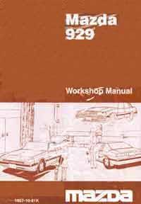 Mazda 929 HB 11/1981 Factory Workshop Manual - Front Cover