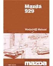 Mazda 929 HB 11/1981 Factory Workshop Manual