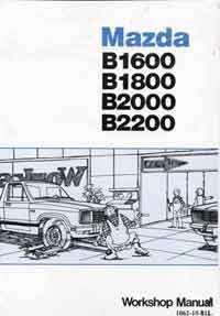 Mazda B Series 12/1981 Factory Workshop Manual - Front Cover