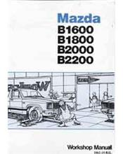 Mazda B Series 12/1981 Factory Workshop Manual