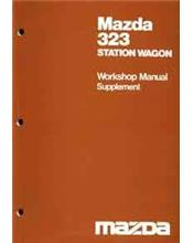Mazda 323 1981 Factory Workshop Manual Supplement