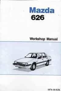 Mazda 626 GC 11/1982 on Factory Workshop Manual - Front Cover