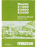 Mazda E Series 1984 - 1996 Factory Workshop Manual : 2 Volume - Front Cover