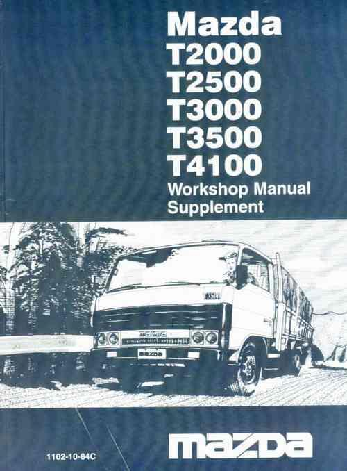 Mazda T Series 03/1984 WE / WW T3500 Factory Workshop Manual Supplement - Front Cover