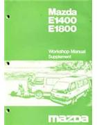 Mazda E Series 03/1984 Factory Workshop Manual Supplement - Front Cover