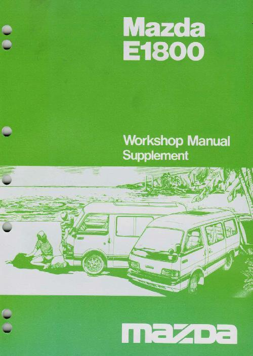 Mazda E Series 03/1985 Factory Workshop Manual Supplement - Front Cover