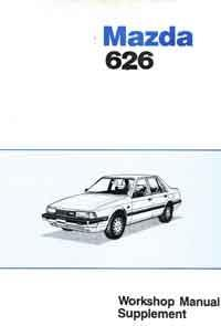 Mazda 626 GC 06/1985 Factory Workshop Manual Supplement - Front Cover