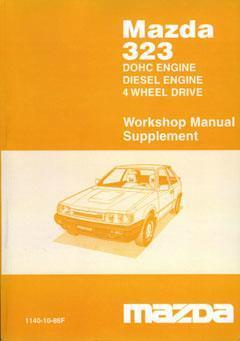 Mazda 323 BF Series 06/1986 Factory Workshop Manual Supplement - Front Cover