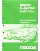 Mazda E Series 02/1986 Factory Workshop Manual Supplement - Front Cover