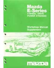 Mazda E Series 02/1986 Factory Workshop Manual Supplement