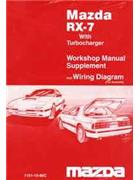 Mazda RX-7 (FC) 03/1986 With Turbocharger Factory Workshop Manual Supplement - Front Cover