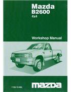 Mazda B Series 12/1986 4X4 Factory Workshop Manual - Front Cover
